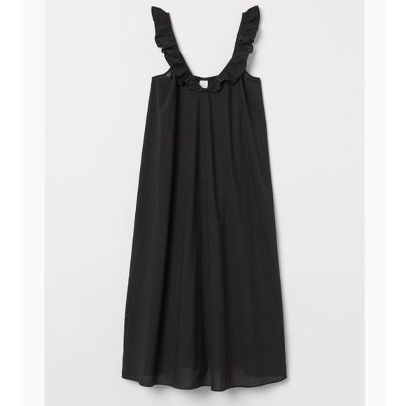 Black Linen Midi / Maxi Dress